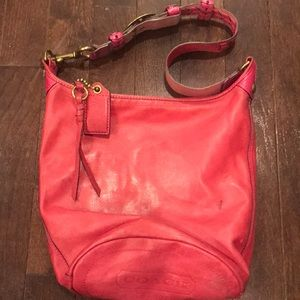 Coach Bleecker magenta cross body bag